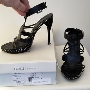 BcBGeneration womans 4 inch leather heels